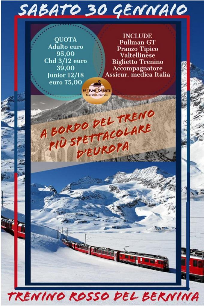 Trenino del Bernina gennaio